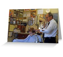 Visit to the Barber Shop Greeting Card