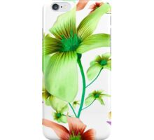 Multicolored Floral Print Pattern iPhone Case/Skin