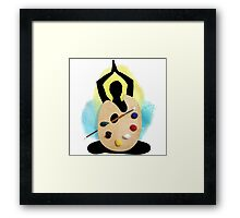 You are the art. Framed Print