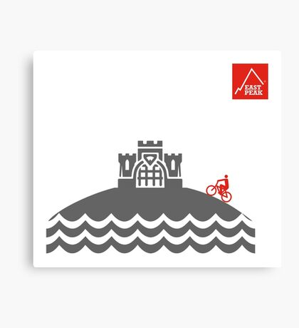 East Peak Apparel - Coast and Castle - Mountain Bike T-Shirt Canvas Print