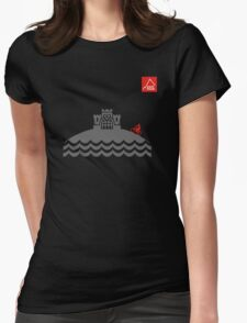 East Peak Apparel - Coast and Castle - Mountain Bike T-Shirt Womens Fitted T-Shirt