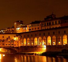 Ponte Vecchio and Lungarno (at night) by tati69