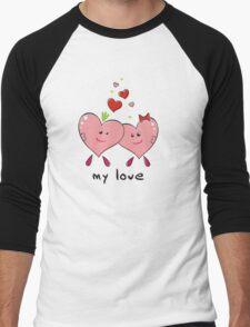 "Drawing ""Hearts in Love"" Men's Baseball ¾ T-Shirt"