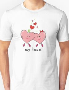 "Drawing ""Hearts in Love"" Unisex T-Shirt"