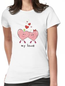 "Drawing ""Hearts in Love"" Womens Fitted T-Shirt"