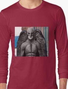"Black & White ""Birdman"" T-Shirt Long Sleeve T-Shirt"