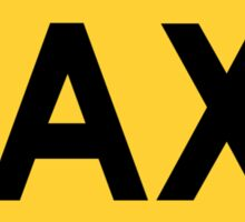 Taxi Sign Sticker