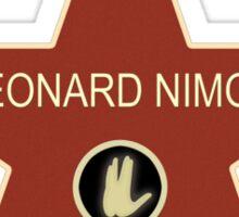Leonard Nimoy Walk of Fame Sticker