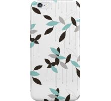 Abstract seamless pattern with blue leaves iPhone Case/Skin
