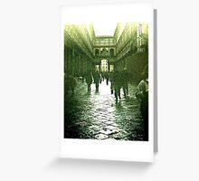 Along the Palazzio Vecchio Greeting Card