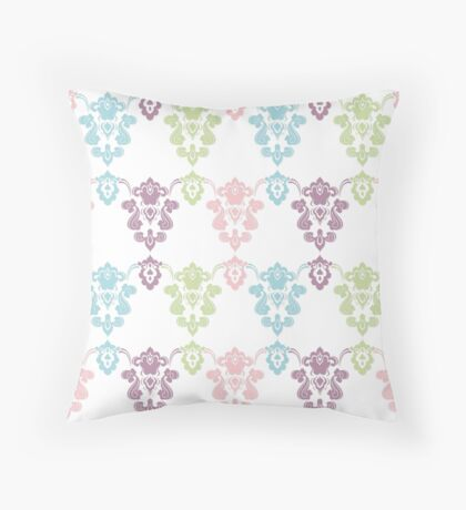 Colorful vintage ornament. Luxury pattern Throw Pillow