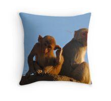 Cheeky little monkeys Throw Pillow