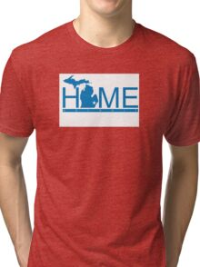 Michigan Home Lions Blue  Tri-blend T-Shirt