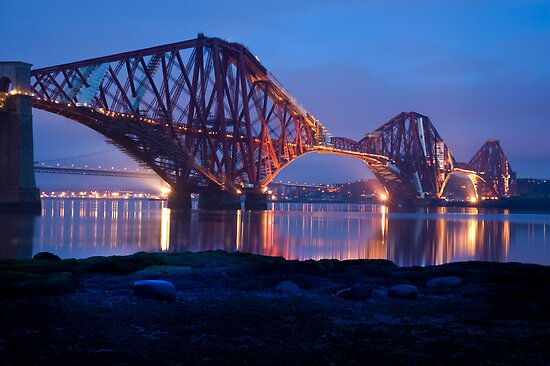 Reflections Before Sunrise: The Forth Railway Bridge  by DonDavisUK