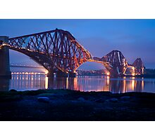 Reflections Before Sunrise: The Forth Railway Bridge  Photographic Print