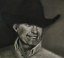 """George Strait""... prints and products by © Bob Hall"