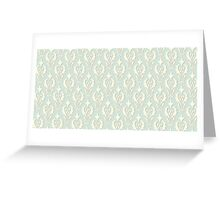 Vintage wallpaper. Delicate veil-like pattern. Greeting Card