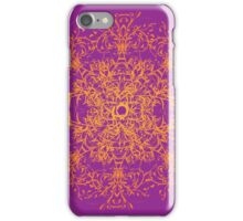 Abstract colorful floral ornament iPhone Case/Skin