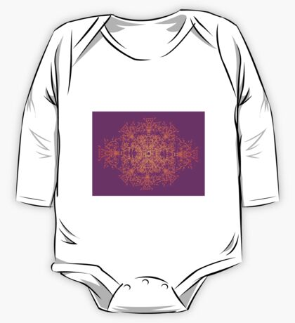 Abstract colorful floral ornament One Piece - Long Sleeve