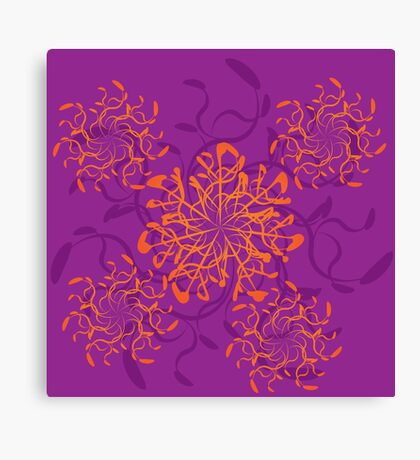 Abstract colorful floral ornament 3 Canvas Print