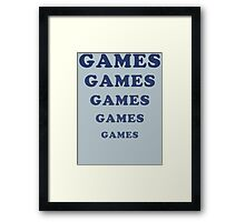 Adventureland - Games Framed Print