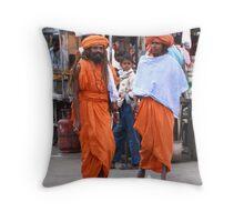 Locals in Pushkar, India Throw Pillow