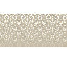 Damask vintage pattern. Gold background Photographic Print
