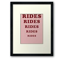Adventureland - Rides Framed Print