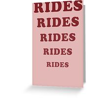 Adventureland - Rides Greeting Card