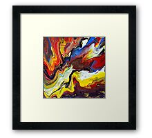 Explosive Abstract Painting Framed Print