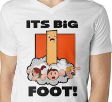 """Big """"FOOT!"""" Mens V-Neck T-Shirt"""