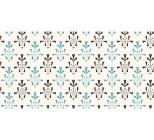 Beige and blue luxury ornamental pattern Photographic Print