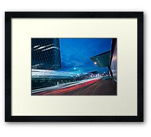 Lighttrail Surfer Framed Print