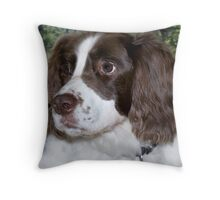 Max in the woods. Throw Pillow