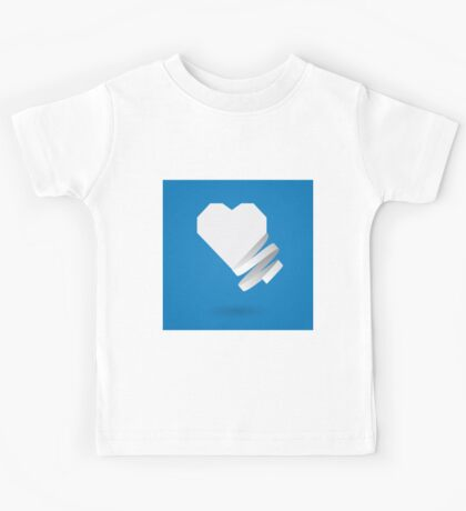 Paper heart with ribbon Kids Tee