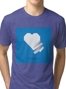 Paper heart with ribbon Tri-blend T-Shirt