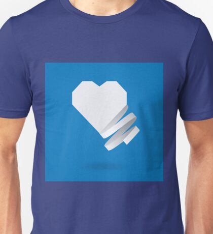 Paper heart with ribbon Unisex T-Shirt