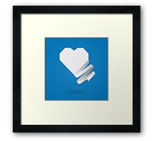 Paper heart with ribbon Framed Print