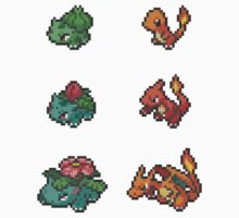 Sticker Set #1 - Bulbasaur, Ivysaur, Venusaur, Charmander, Charmeleon, Charizard by Natmaz