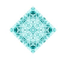 """Spirit of India: Magic Diamond"" in white and blue-turquoise by FireFairy"