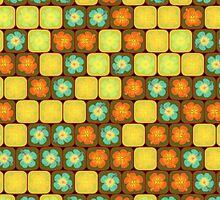 Random hibiscus pattern by Gaspar Avila