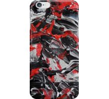 Red and Black Abstract Art, Mixed Media Contemporary Art  iPhone Case/Skin