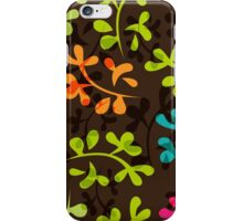 Cute floral pattern with leaves iPhone Case/Skin