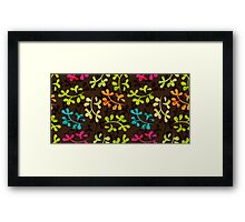 Cute floral pattern with leaves Framed Print