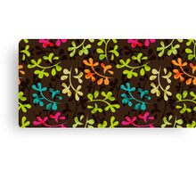Cute floral pattern with leaves Canvas Print