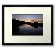 Swan Park Sunset Bellerena Co. Derry  Ireland  Framed Print