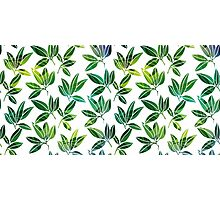 Pattern with abstract palm leaves Photographic Print
