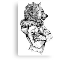 Wolf Rising Inks Canvas Print
