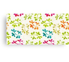 Floral pattern with cute leaves Canvas Print