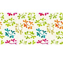 Floral pattern with cute leaves Photographic Print